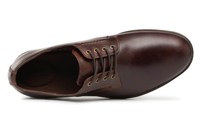 Chaussures à lacets Clarks Hinman Plain Marron vue gauche
