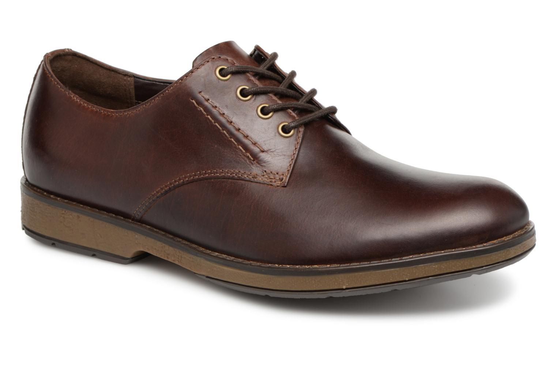 Chaussures à lacets Clarks Hinman Plain Marron vue détail/paire