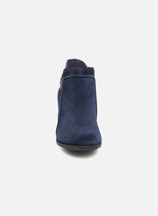 Bottines et boots Clarks Enfield Kayla Bleu vue portées chaussures