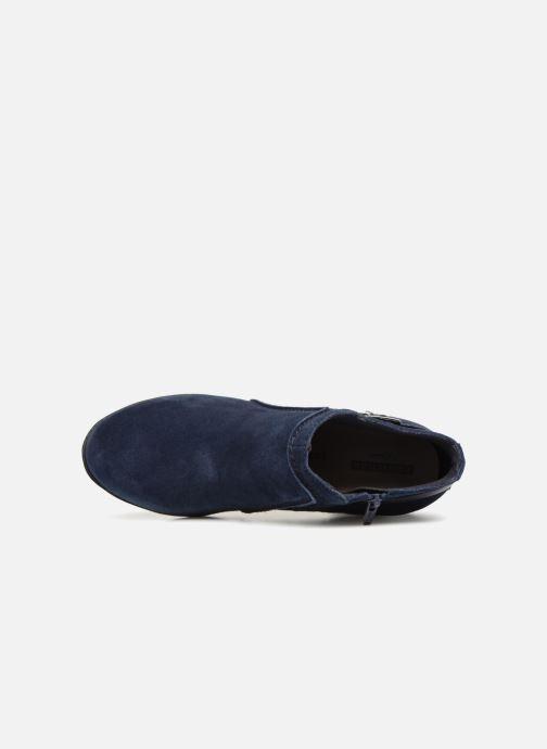 Bottines et boots Clarks Enfield Kayla Bleu vue gauche