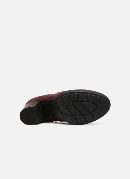 Bottines et boots Clarks Enfield Kayla Bordeaux vue haut