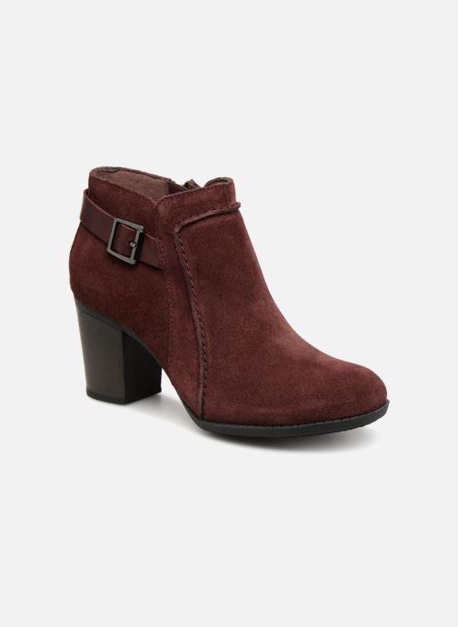 Bottines et boots Clarks Enfield Kayla Bordeaux vue détail/paire