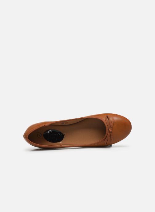 Ballerinas I Love Shoes Florenza Size + braun ansicht von links