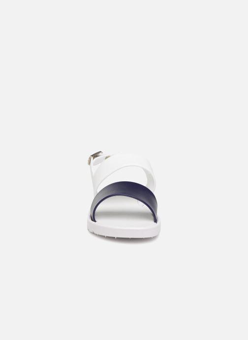 Sandales et nu-pieds Be Only Eléa marine Blanc vue portées chaussures