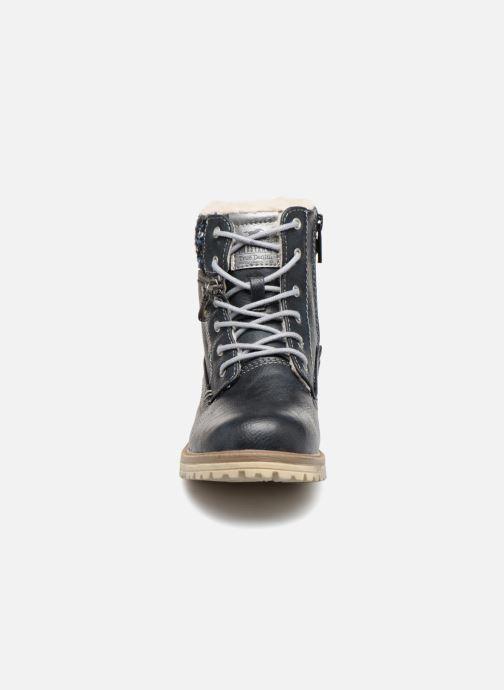 Bottines et boots Mustang shoes Ramona Bleu vue portées chaussures