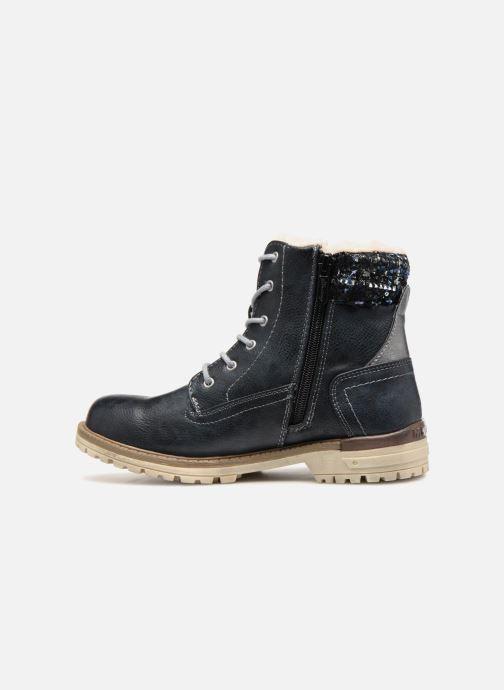 Bottines et boots Mustang shoes Ramona Bleu vue face