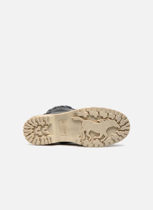 Bottines et boots Mustang shoes Ramona Bleu vue haut