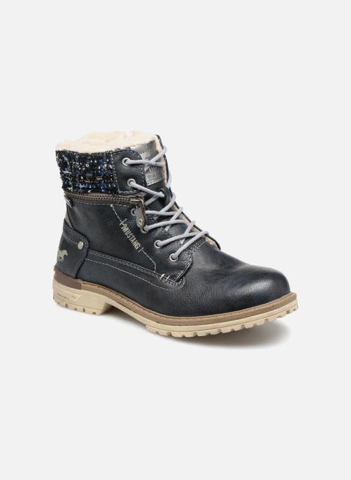 Bottines et boots Mustang shoes Ramona Bleu vue détail/paire