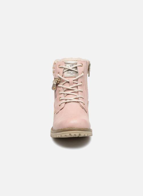 Bottines et boots Mustang shoes Ramona Rose vue portées chaussures