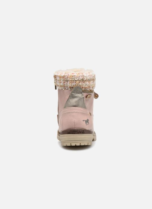 Bottines et boots Mustang shoes Ramona Rose vue droite