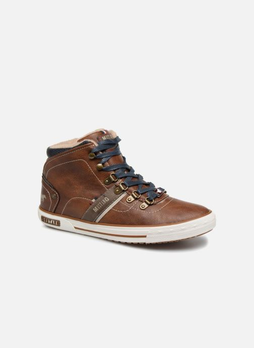 Baskets Mustang shoes Heinrike Marron vue détail/paire