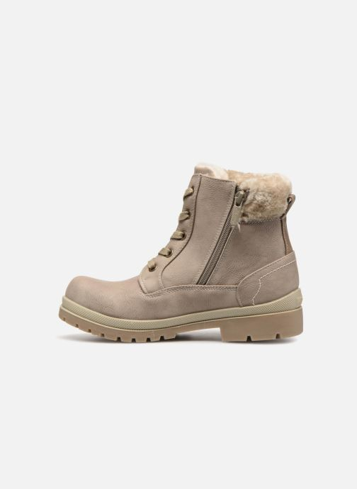 Ankle boots Mustang shoes Helmina Beige front view