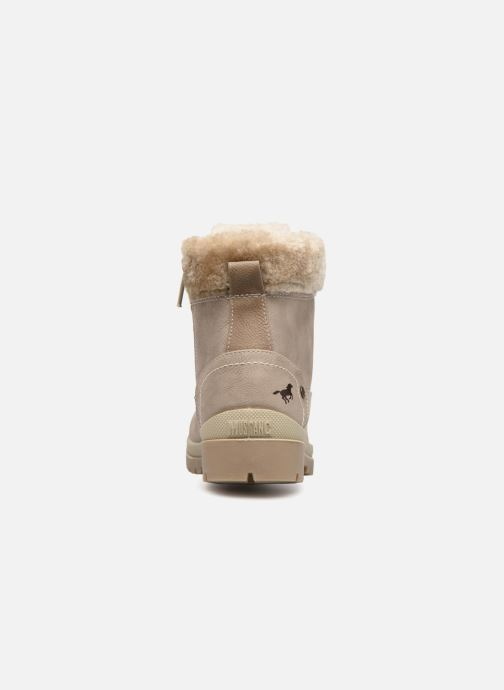 Ankle boots Mustang shoes Helmina Beige view from the right