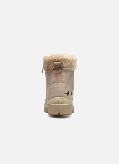 Bottines et boots Mustang shoes Helmina Beige vue droite