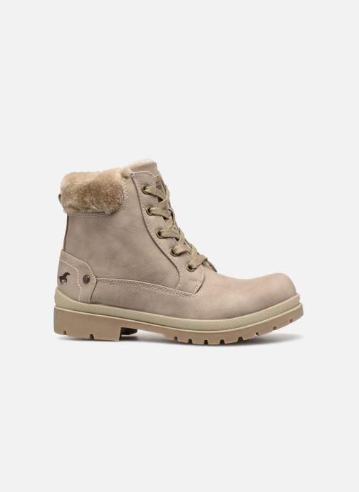 Ankle boots Mustang shoes Helmina Beige back view