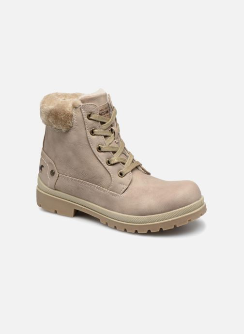 Ankle boots Mustang shoes Helmina Beige detailed view/ Pair view