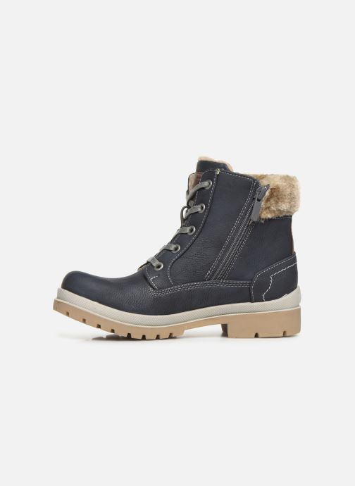 Bottines et boots Mustang shoes Helmina Bleu vue face