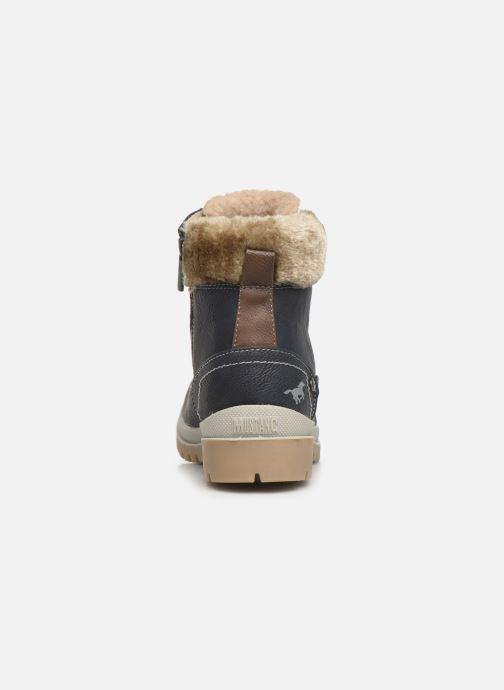 Bottines et boots Mustang shoes Helmina Bleu vue droite
