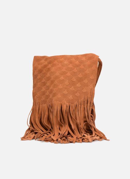 Borse Street Level Suede embossed fringe bag Marrone modello indossato
