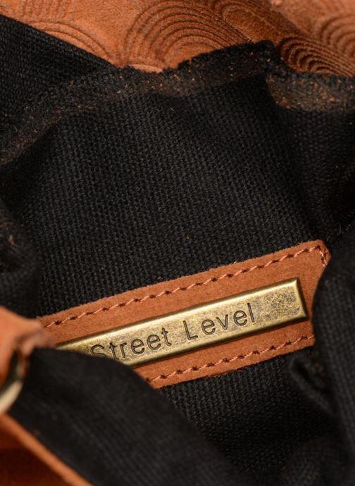Sacs à main Street Level Suede embossed fringe bag Marron vue derrière