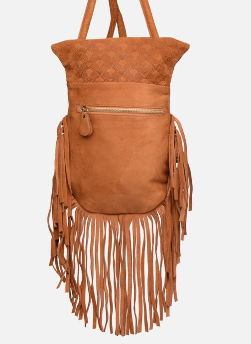 Sacs à main Street Level Suede embossed fringe bag Marron vue gauche