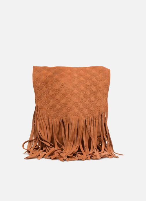 Sacs à main Street Level Suede embossed fringe bag Marron vue détail/paire