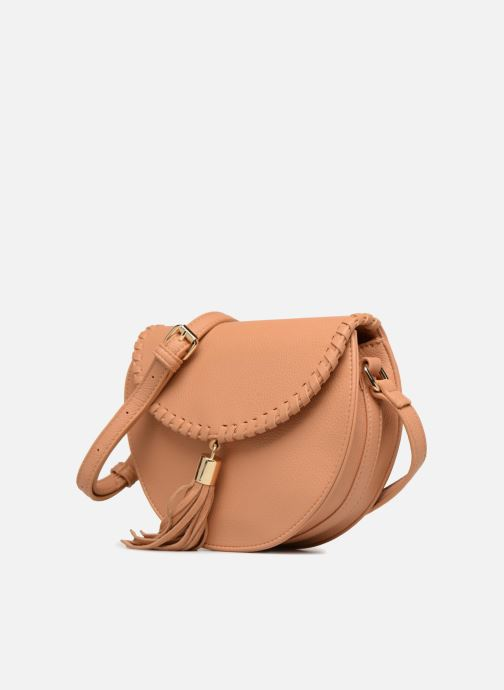 Handbags Street Level Cresent shaped w/tassel Beige model view