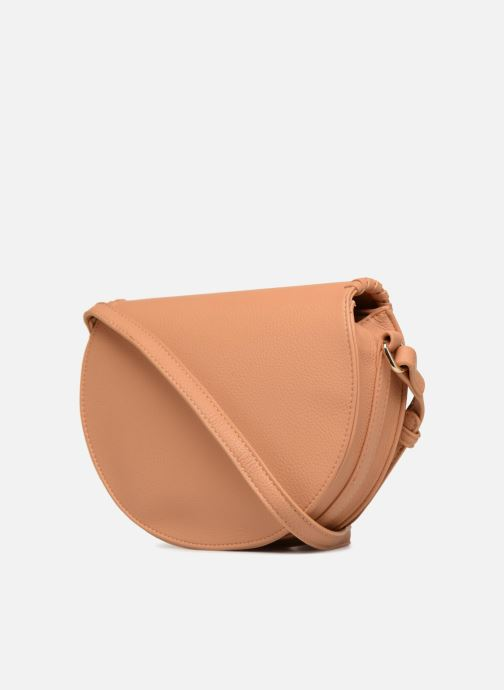 Handbags Street Level Cresent shaped w/tassel Beige view from the right