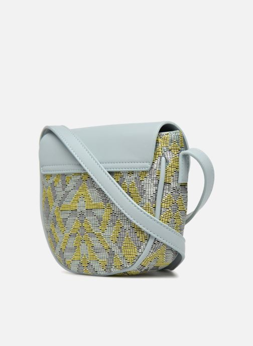 Handbags Street Level Straw crossbody bag Grey view from the right