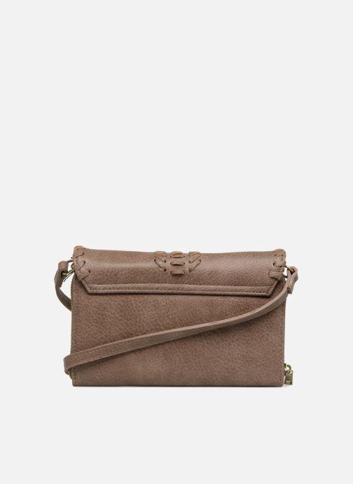 Handbags Street Level Saddle stitch crossbody Brown front view