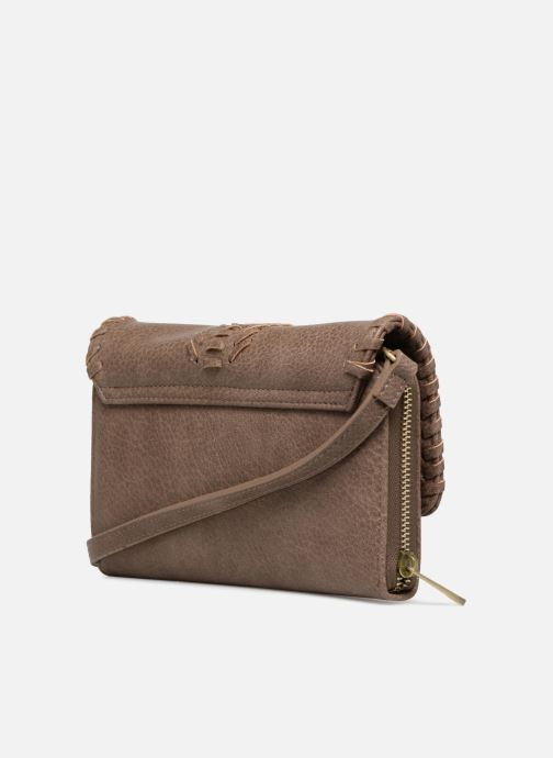 Handbags Street Level Saddle stitch crossbody Brown view from the right