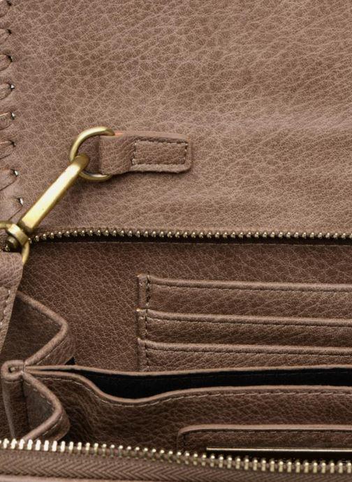 Handbags Street Level Saddle stitch crossbody Brown back view