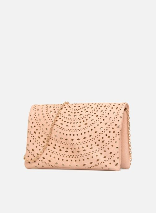 Sacs à main Street Level Perforated crossbody Beige vue portées chaussures