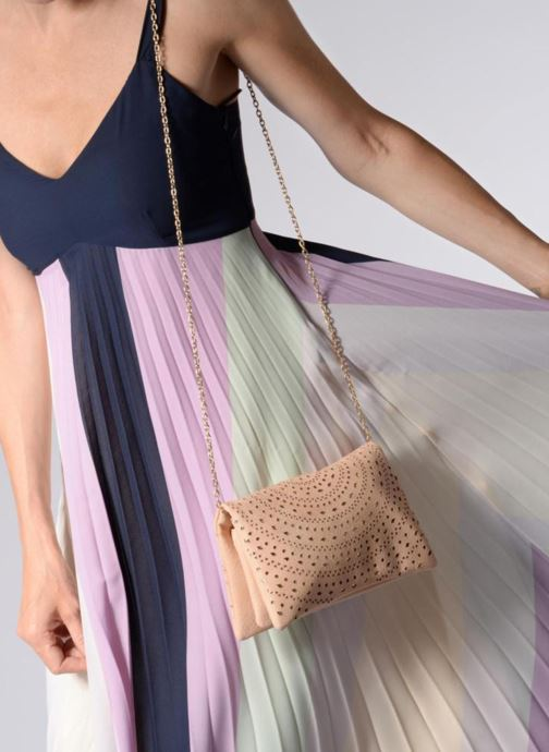 Handbags Street Level Perforated crossbody Beige view from above