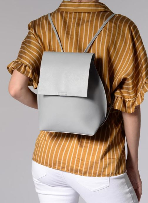 Sacs à dos Street Level Slouch thin strap backpack Gris vue bas / vue portée sac