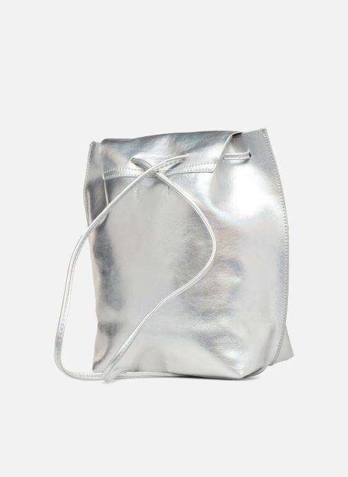 Sacs à dos Street Level Slouch thin strap backpack Argent vue droite