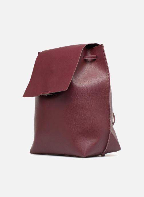 Rucksacks Street Level Slouch thin strap backpack Burgundy model view