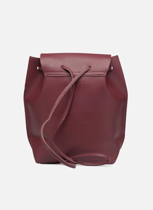 Rucksacks Street Level Slouch thin strap backpack Burgundy front view