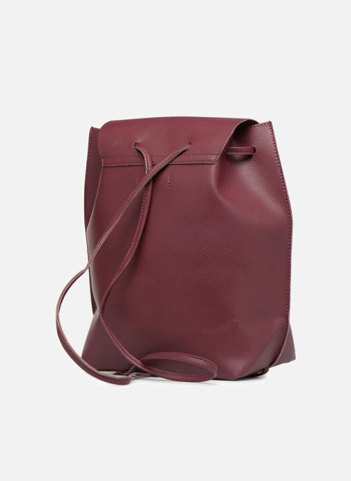 Rucksacks Street Level Slouch thin strap backpack Burgundy view from the right