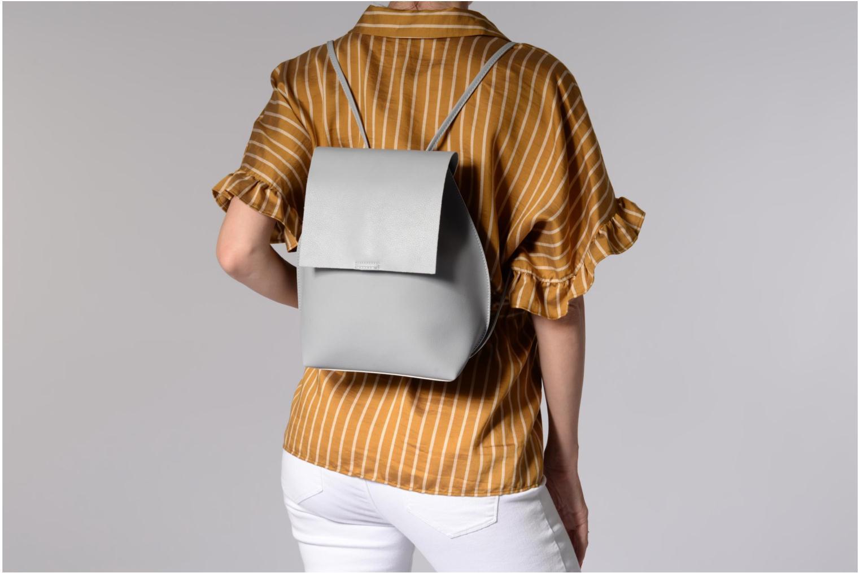 Sacs à dos Street Level Slouch thin strap backpack Gris vue haut