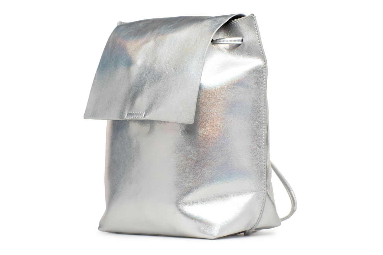 Rucksäcke Street Level Slouch thin strap backpack silber schuhe getragen