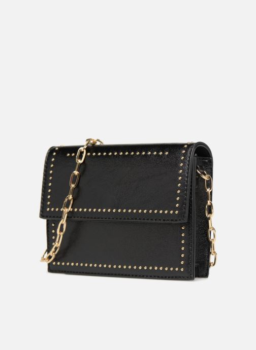 Handbags Street Level Mettalic chainstrap crossbody Black model view