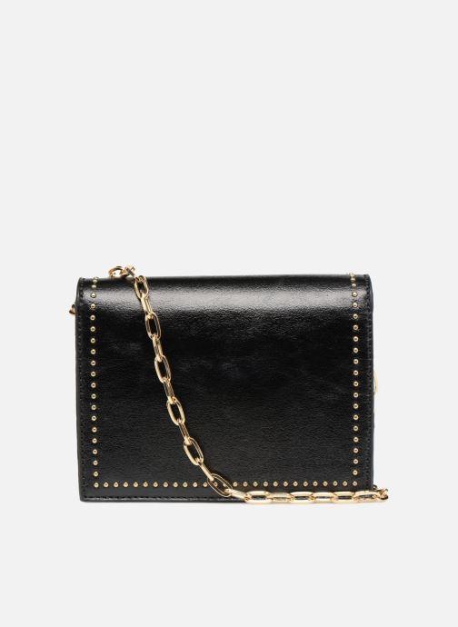 Handbags Street Level Mettalic chainstrap crossbody Black front view