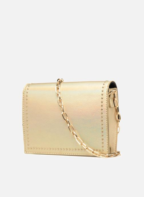 Handbags Street Level Mettalic chainstrap crossbody Bronze and Gold view from the right