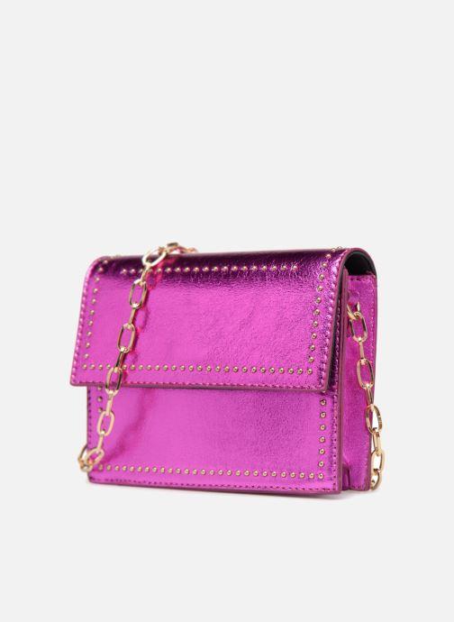 Handbags Street Level Mettalic chainstrap crossbody Pink model view