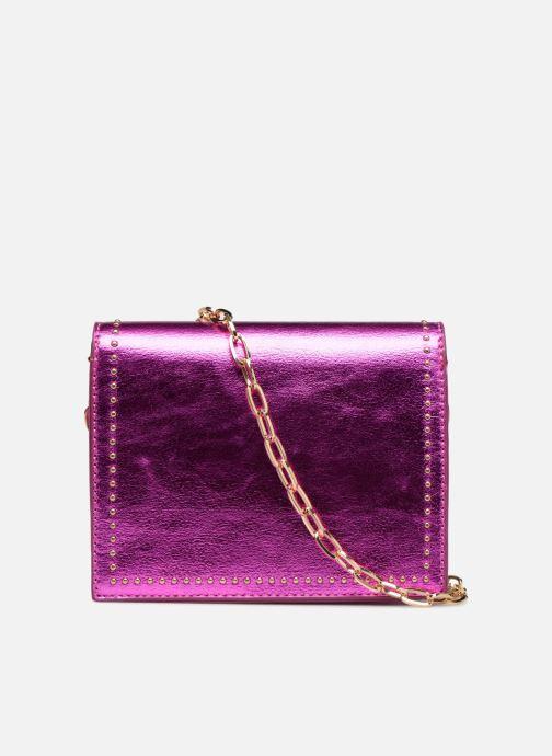 Handbags Street Level Mettalic chainstrap crossbody Pink front view