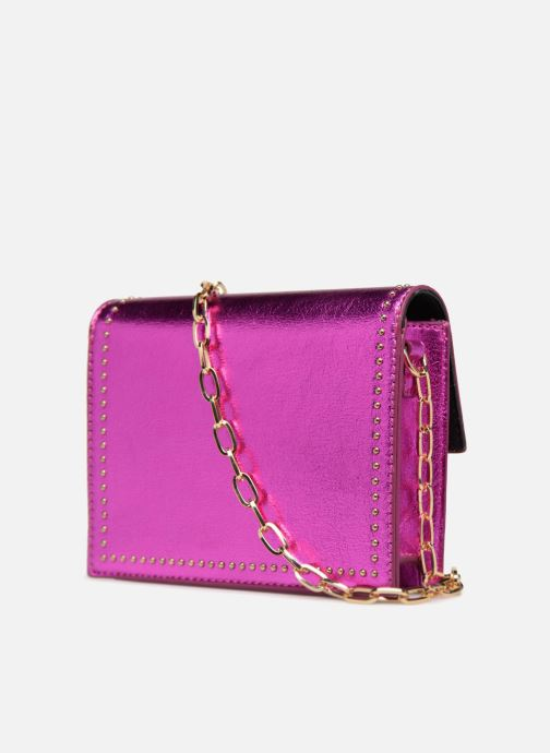 Handbags Street Level Mettalic chainstrap crossbody Pink view from the right
