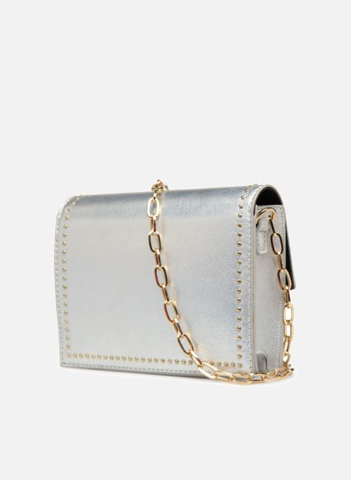 Handbags Street Level Mettalic chainstrap crossbody Silver view from the right