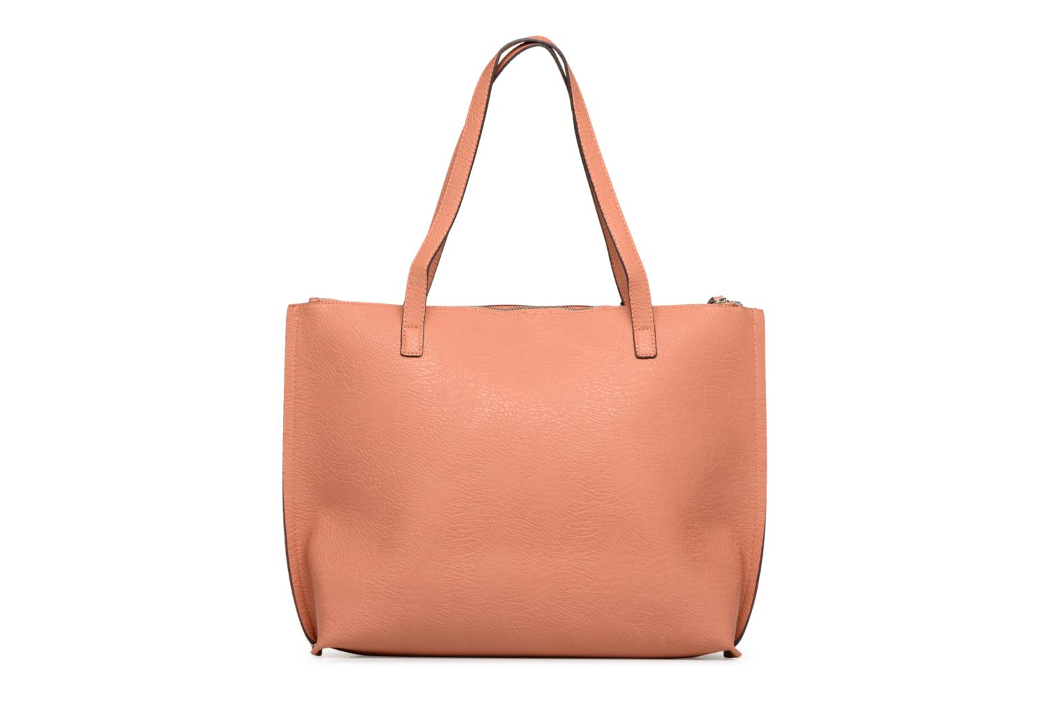 Tote RED BLUSH top zipper Street Level with Twf5naq