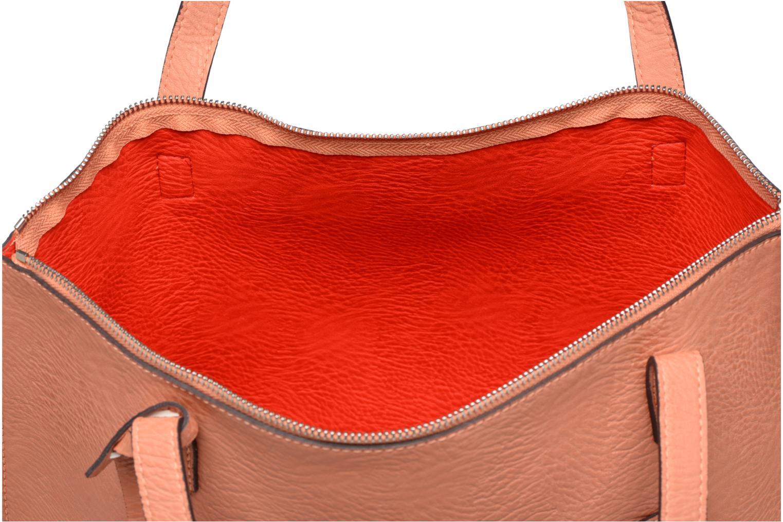 Handtassen Street Level Tote with top zipper Roze achterkant
